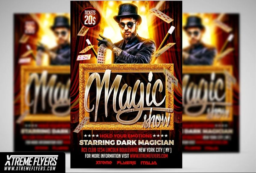 Well Layered Magic Show Poster