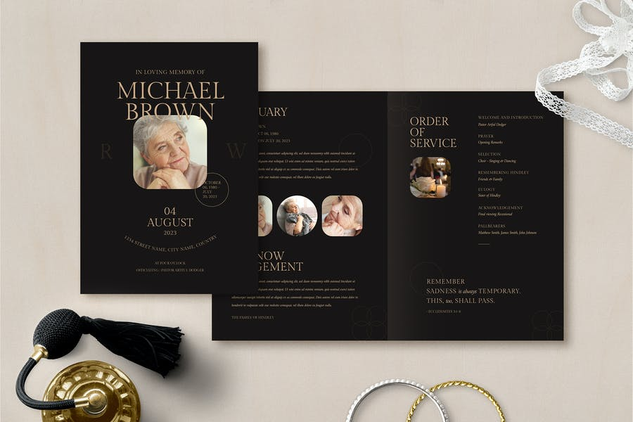 Well Organized Funeral Brochure Design