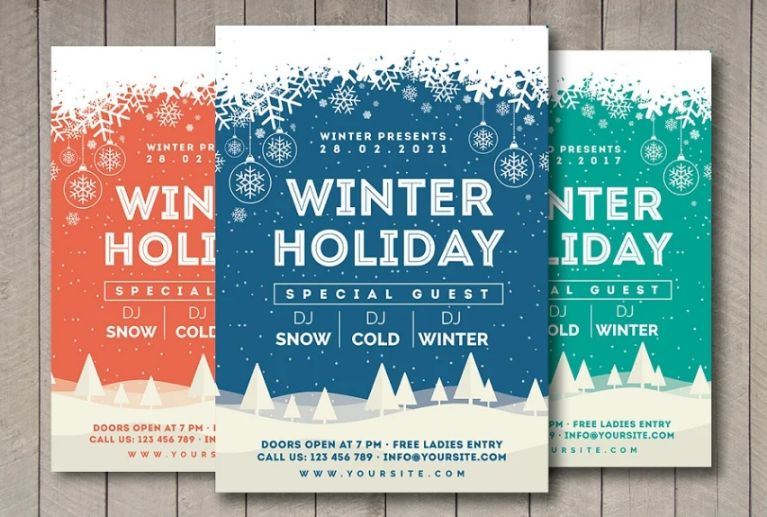 Winter Holidays Party Flyer