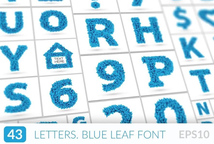 Winter Leaves Font