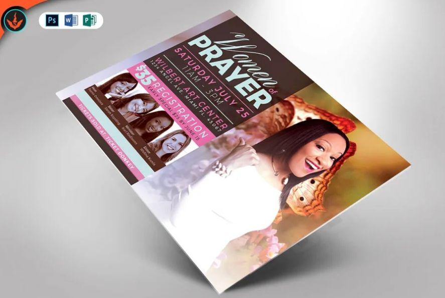 Women's Prayer Flyer Design