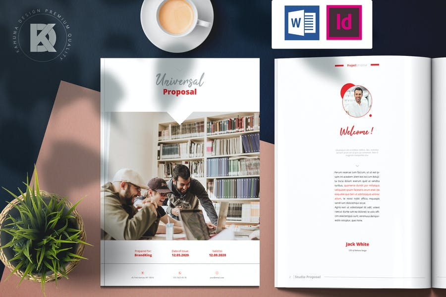Word and Indesign Brochure Template