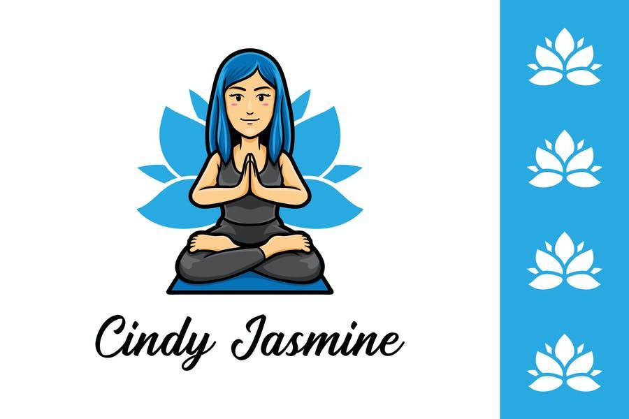 Yoga Instructor Mascot Logo