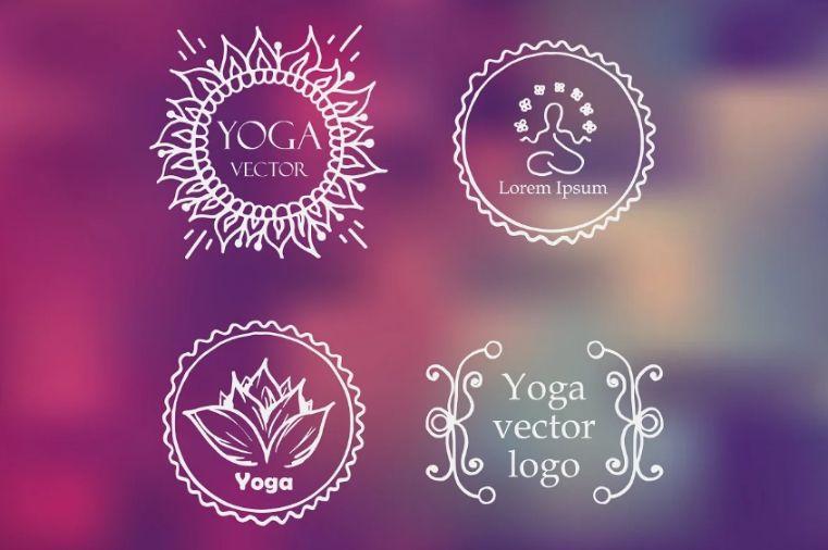 Yoga Logo Design Set