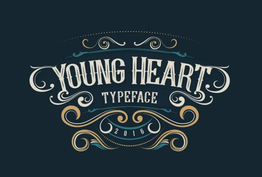 Young Heart Tattoo font