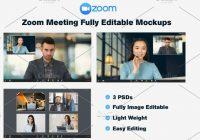 online meeting mockup