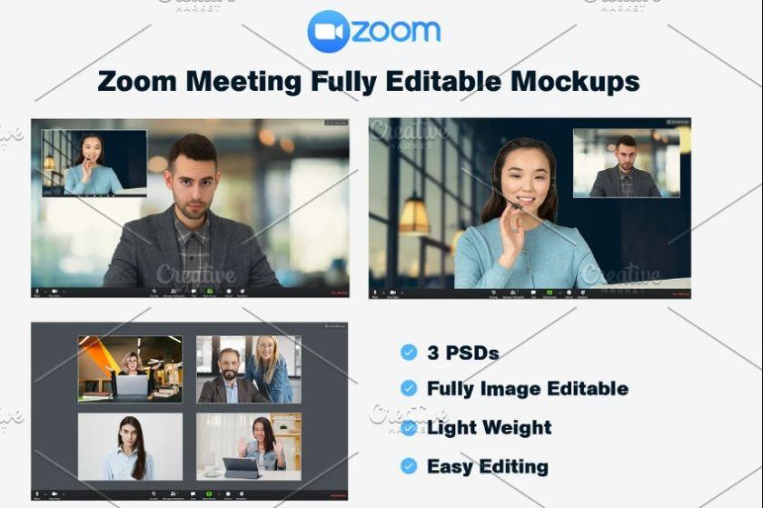Zoom Meeting Mockup