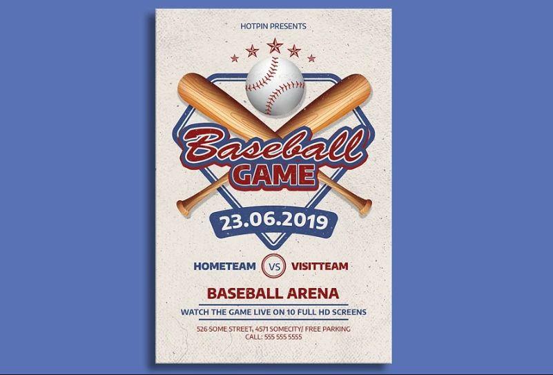 baseball Game Advertisement Flyer
