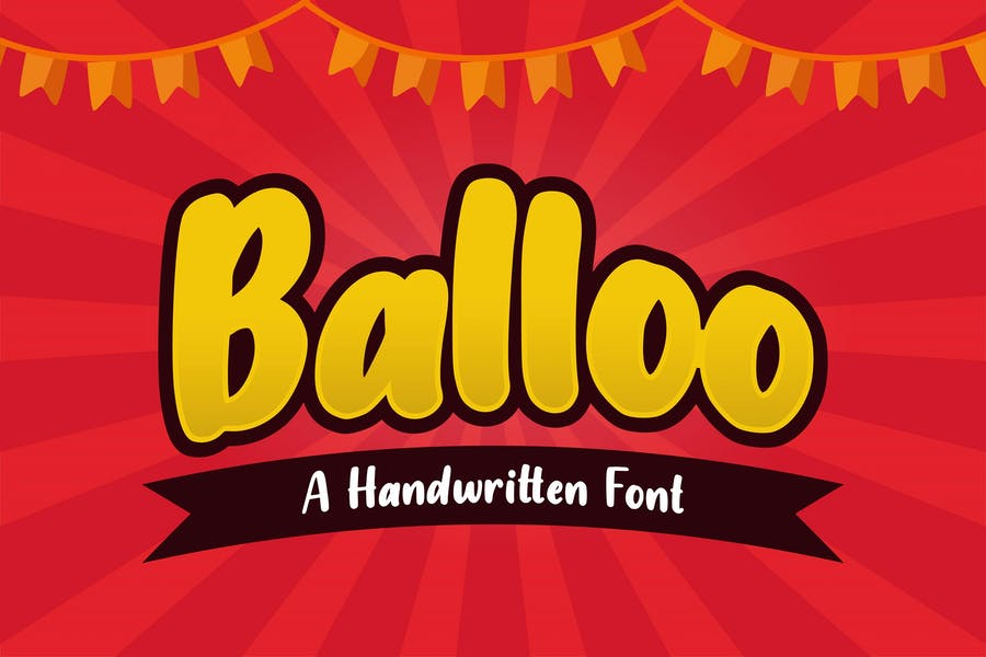 handwritten Baloon Fonts