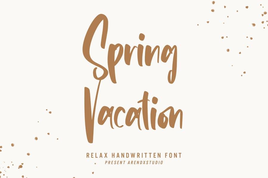 vacation Handwritten Typefaces