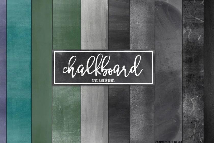 10 Chalkboard Paper Textures Set