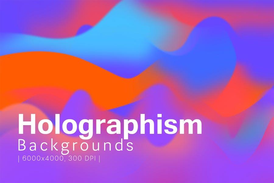 10 Halographism Background Textures