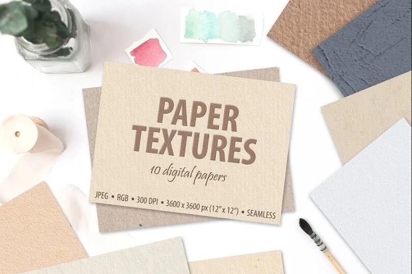 10 Seamless Digital Paper Textures