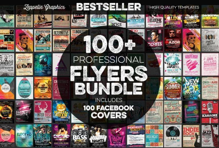 100+ Music Promotional Flyer Bundle