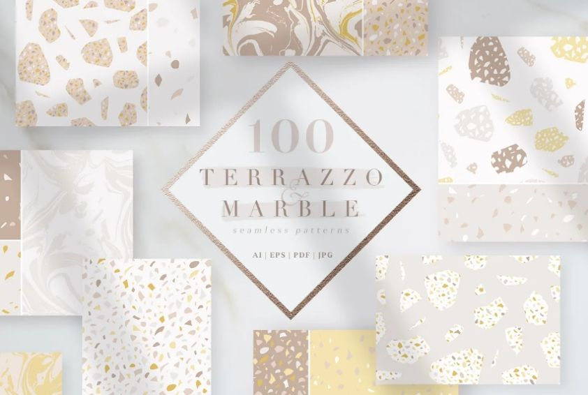 100 Terrazzo and Marble Patterns