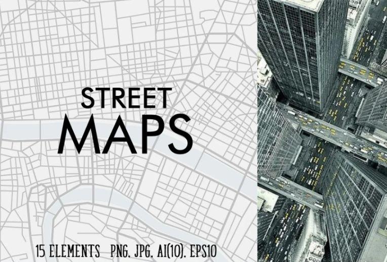 15 Street Map Textures