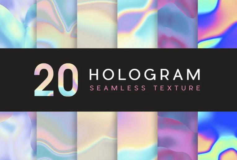 20 Hologram Seamless Textutes