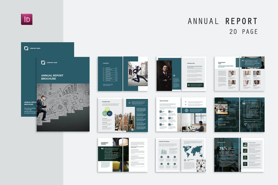 20 Pages Annual Catalog Templates