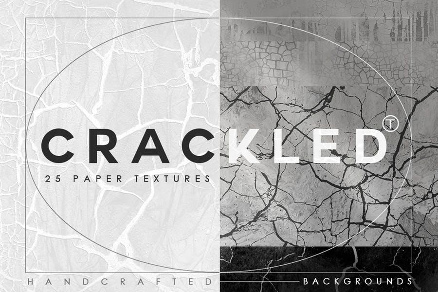 25 Cracked Paper Textures