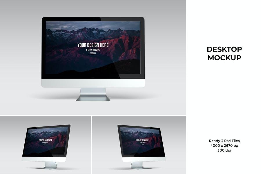 3 Desktop Design Mockups