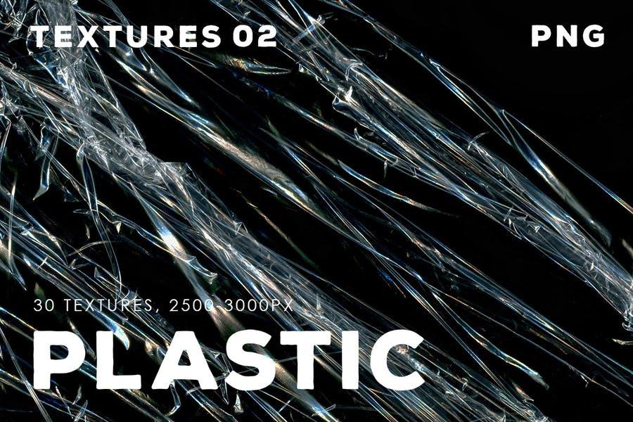 30 Plastic Wrap Textures