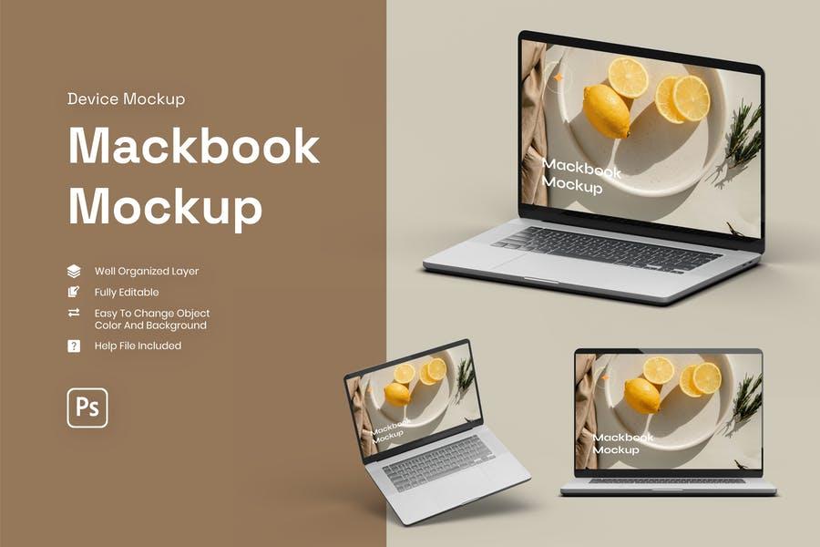 3D Laptop Screen Mockups