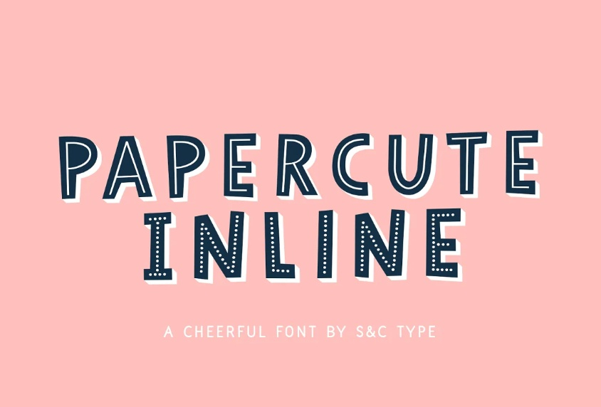 3D Lined Funny Fonts