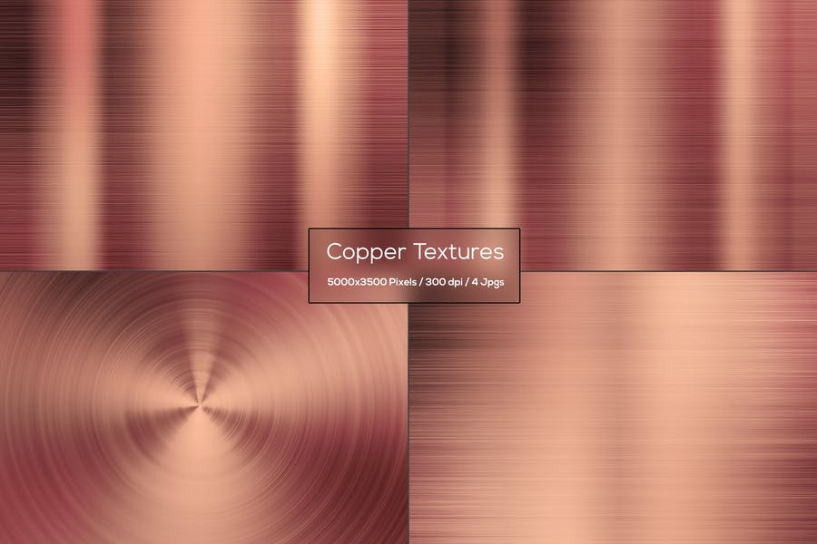 4 Copper Metal Backgrounds
