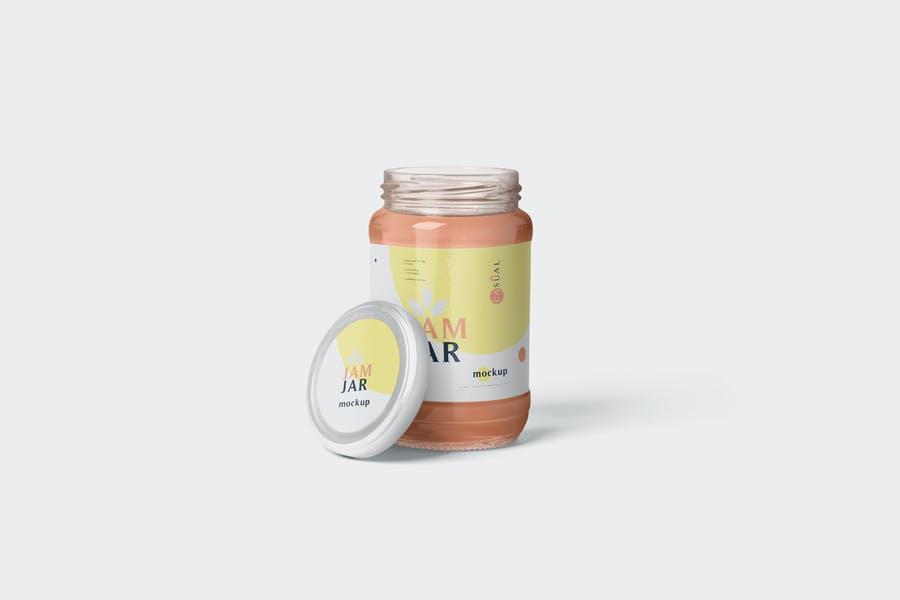 4 Customizable Jam Branding Mockups