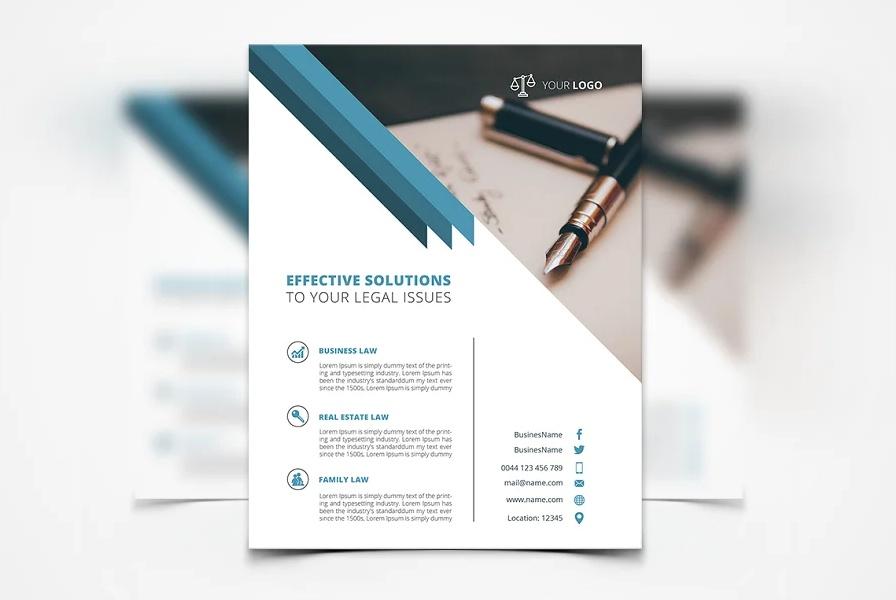 4 Legal Services Flyer Templates