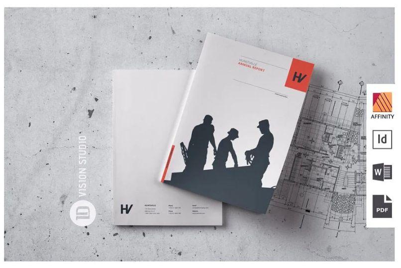 40 Pages Annual Catalog Template