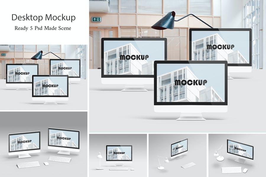 5 Desktop Mockup Set