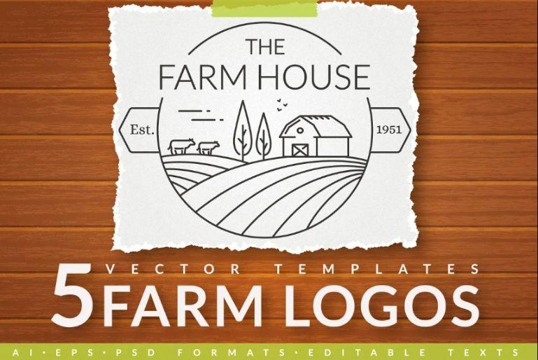 5 Farm Vector Logo Templates