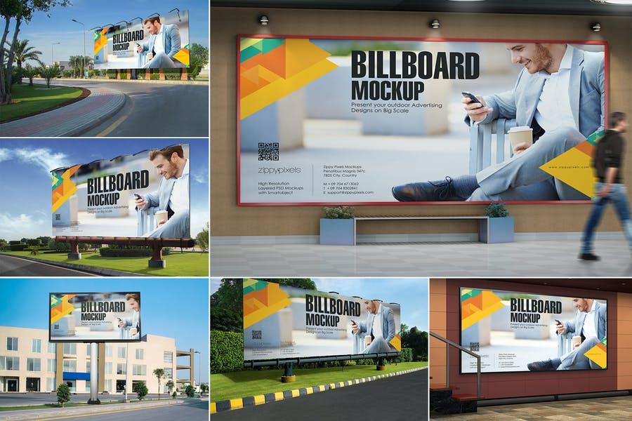 7 Hoarding Ad Mockups