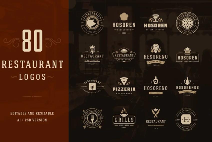 80 Restaurant Logo Design Templates