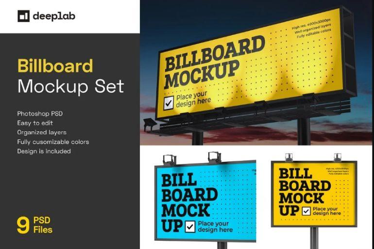 9 Billboard Brandig Mockup Set