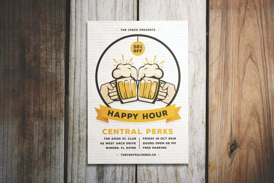 A4 Beer Flyer Templates