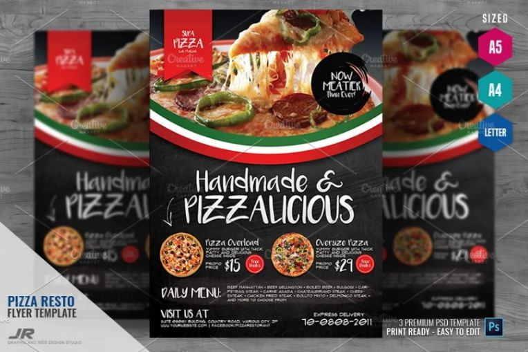 A4 Cafe Pizza Flyer
