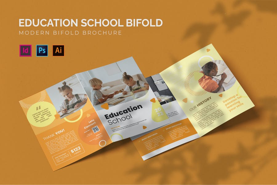 A4 Educational Bi Fold Brochure