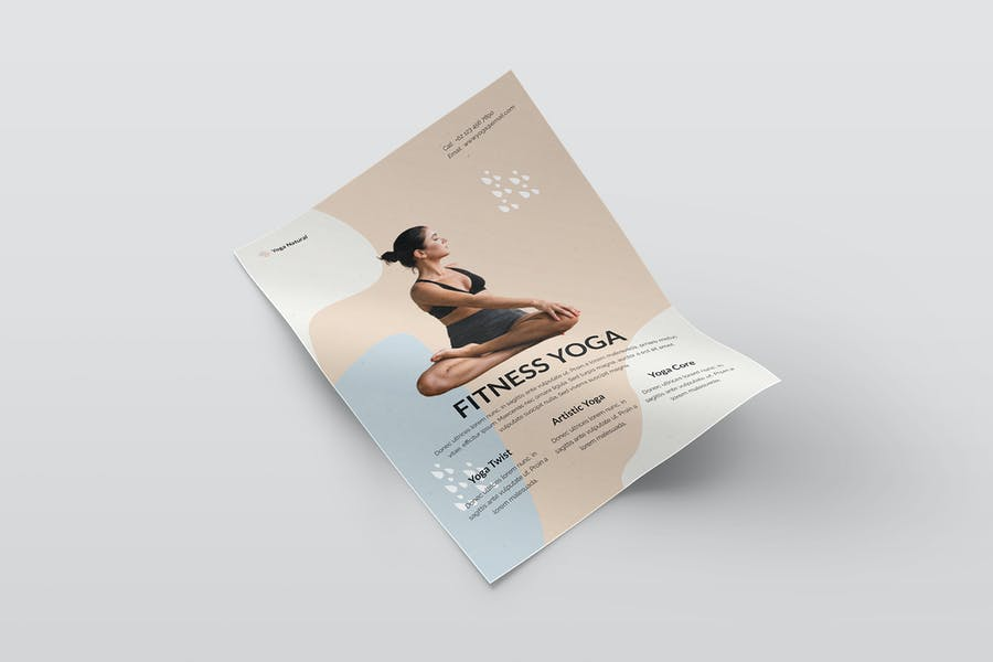 A4 Fitness Yoga Poster