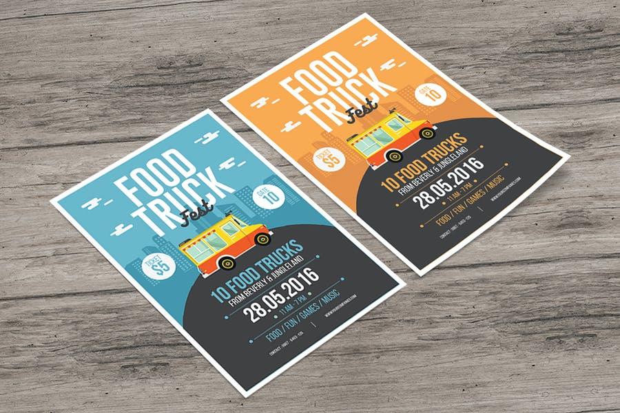 A4 Food Truck Advert Flyer