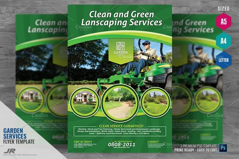 A4 Gardening Flyer Templates