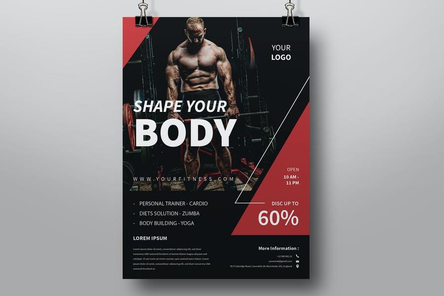 A4 Gym Advert Flyers