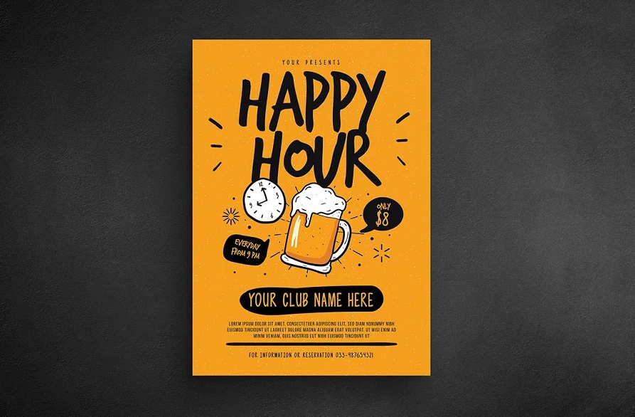 21+ Free Happy Hour Flyer Templates Download