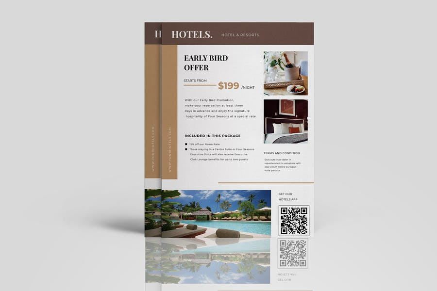 A4 Hotels Promotional Flyer