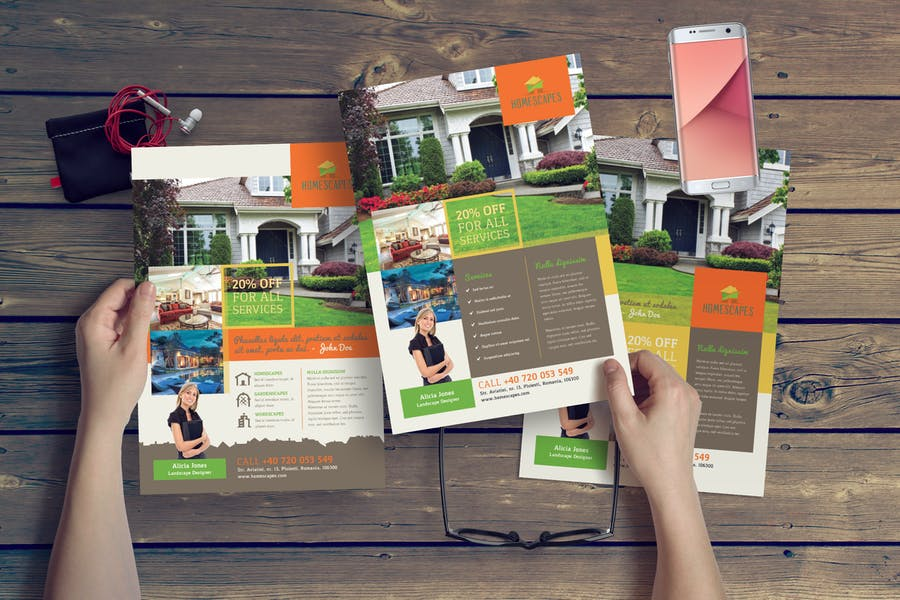 A4 Landscaping Flyer Templates