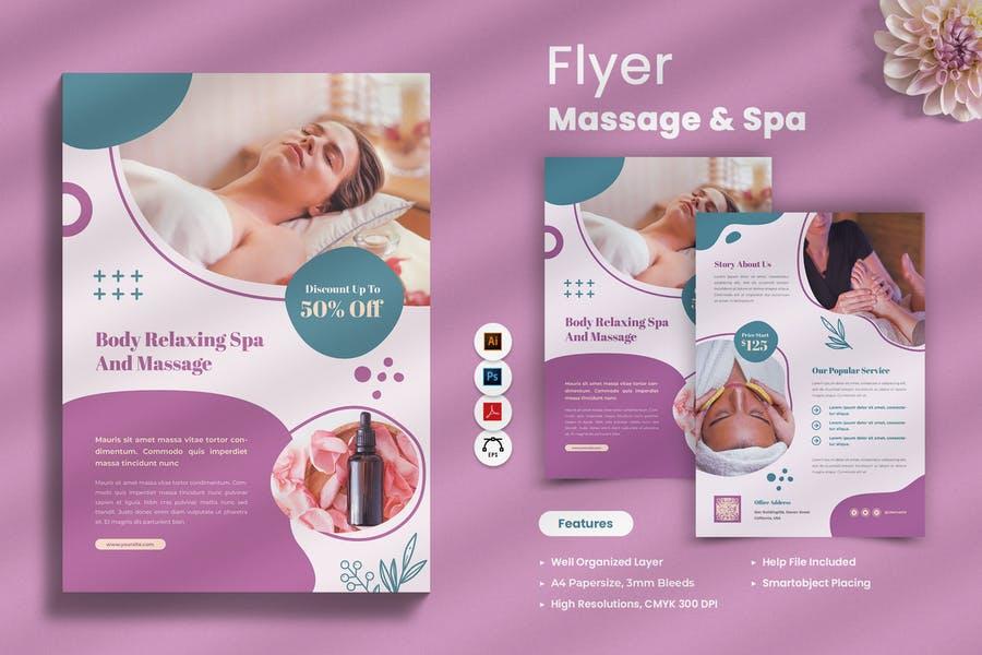 A4 Massage Flyer Templates