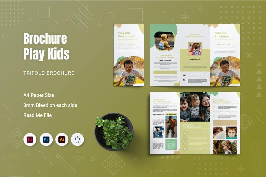 A4 Play Kids Brochure Templates