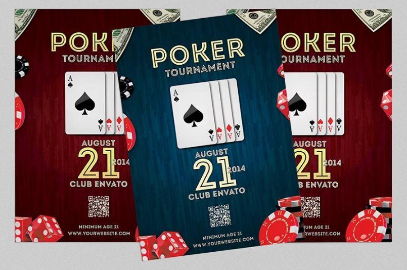 A4 Poker Event Flyer