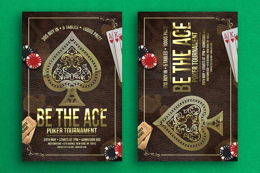 A4 Poker Night Flyer Design